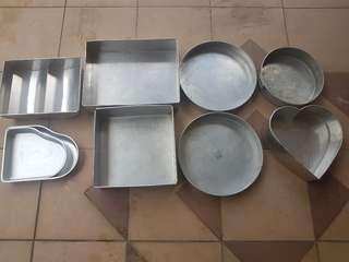 Cake trays/moulds @ $3 to $5each