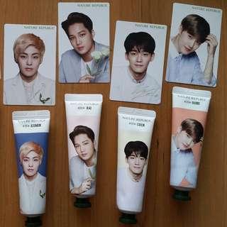 EXO Nature Republic Hand cream & Photocard