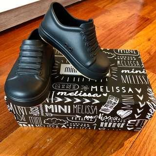 Brand new black mini Melissa toddler shoes