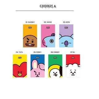 (Pre-Order Guide) Official BT21 2019 Planner - Version A