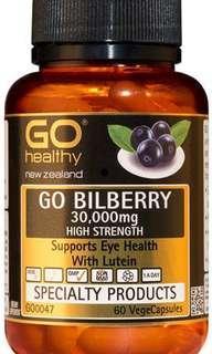 🚚 Go Healthy GO Bilberry 30,000 High Strength