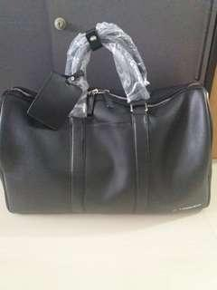 BLACK Boston Bag (PU Leather)