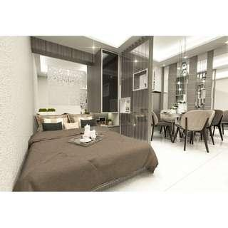 Family Suite A with Balcony (26SQM.) Luxury Condo in Mall of Asia Pasay City near City of Dreams!