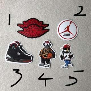Nike Air Jordan Stickers