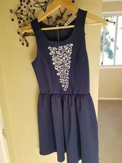 Navy Dress- size 8