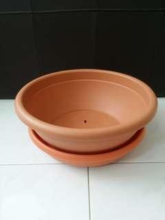Plant Pot & *Saucer with rollers