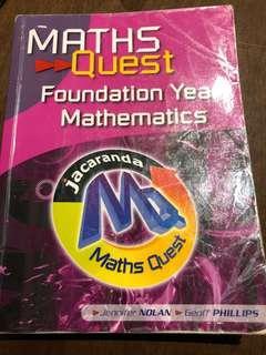 Foundation Year Mathematics Maths Quest
