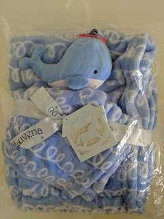 Luvena fortuna baby fleece blanket and soft toy