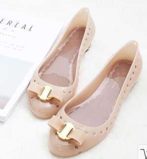Beige Jelly Shoes EU40US9