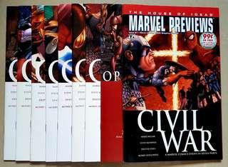 CIVIL WAR (set of 9 included PREVIEW & SKETCHBOOK)