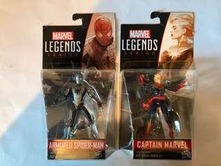 Marvel Legends 3.75 - Spider-Man + Captain marvel