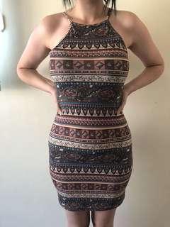 Tribal tight dress