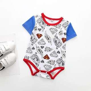 🚚 🌟INSTOCK🌟 Superhero Superman Print Overall Onesie Kids Newborn Baby Romper Children Clothing for boys