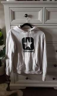 AUTHENTIC White and Black Converse Hoodie Jumper