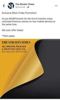 The straits times digital access