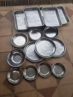 Assorted stainless steel trays $3-$10 eachonward
