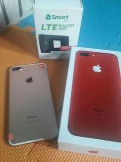 Iphone 7 plus with free pocket wifi