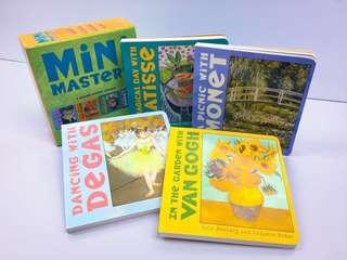 NEW~ The Mini-Masters Board Books Set ( Art Books for Toddlers)