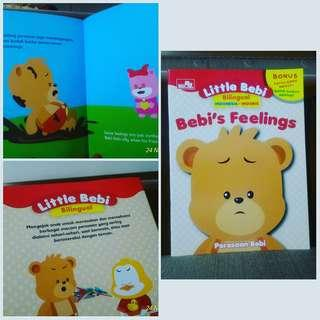 Buku Anak Little Bebi Bilingual Bebis Feelings Perasaan Bebi