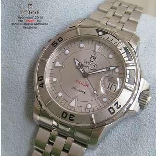 減價! 帝舵(刁陀)Tudor Hydronaut SLATE 銀灰DIAL Steel  200M Automatic Watch.约39-40mm