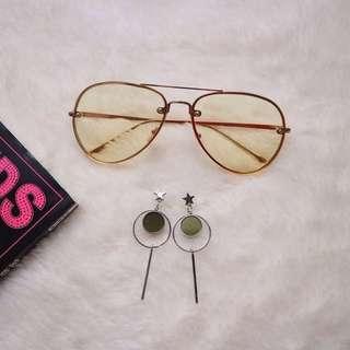 Versey Sunglasses & Stamon Earrings