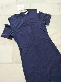 Off-shoulder Bodycon Dress #BFfashion