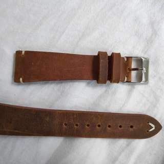 20mm leather strap for watch