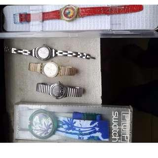 Swatch Borongan 5 item 1 pop dan 4 ladies