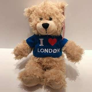🚚 🇬🇧英國帶回 Harrods  英國百年品牌 泰迪熊 我愛英國泰迪熊絕對收藏品