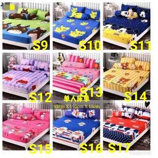 Cartoon single bedsheet
