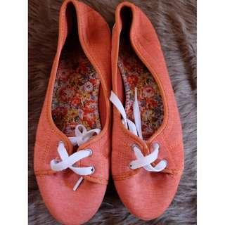 Orange Doll Shoes