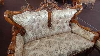 Sofa set jati 3+2+1+1+meja baru sampai