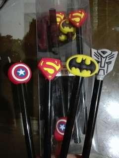 Superheroes Logo Ballpen (12 pieces)