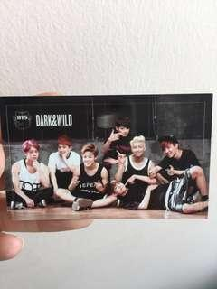 BTS OFFICIAL DARK AND WILD GROUP PHOTOCARD