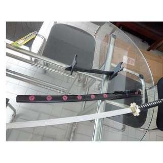 cosplay adult size katana ninja samurai wooden sword blade with sword stand
