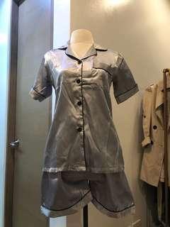 Silk Pajamas (Silver)