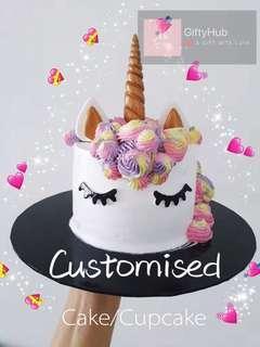 Customised Cake/Cupcake