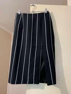 Keepsake Stripe Midi Skirt with Slit