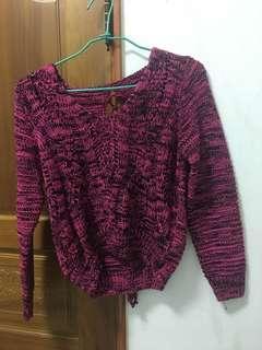 🚚 粉紅色針織上衣(全新)