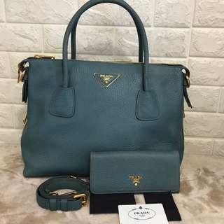 Prada Saffiano set with purse