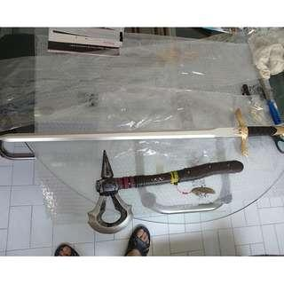 Assassin's Creed foam pu sword and axe set cosplay