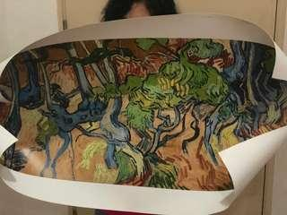Oil on canvas (Vincent Van Gogh) Tree roots