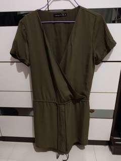 墨綠色連身褲