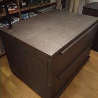 師傅訂製 床邊矮櫃 有閱讀燈 H50W70D50