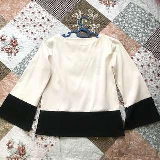 Black White Blouse