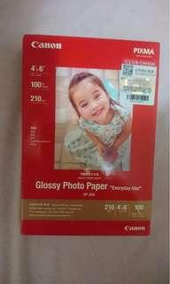 """全新 Canon Glossy Photo Paper 噴墨照片打印紙 4""""x6"""" 100張  $35"""