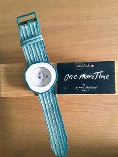 1991 Swatch Vtg limited edt GUHRKE ONE MORE TIME by Alfred Hofkunst PWZ100 POP Swatch Art Special