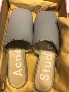 Acne studios 全真皮紫色拖鞋