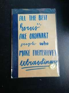 Notebook with Quote