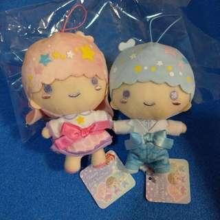 Little Twin Stars 雙子星 Kiki Lala 景品 公仔 禮服造型 一對